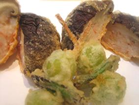 お通し自家製茶碗蒸し車海老キス穴子帆立旬の野菜6品お鮨5貫かき揚(白ご飯・天茶・天丼のいずれかをお選びください)