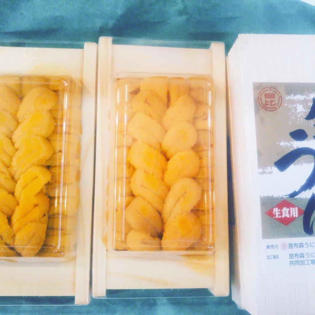 北海道釧路町 昆布森の雲丹です♪やっと国産の雲丹が入荷いたしました!!昆布森のとてもおいしい雲丹を是非是非♪